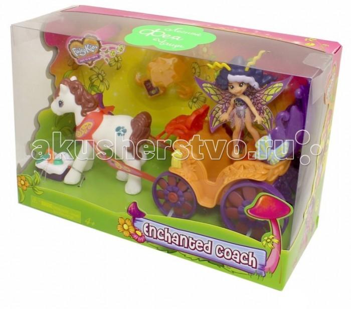 Fairykins Игровой набор Фея Вольтесса в ЛандоИгровой набор Фея Вольтесса в ЛандоФея Вольтесса в ландо – это интересный игровой набор, который может понравиться девочкам, любящим сюжетно-ролевые игры, волшебство и фей. Комплект состоит из маленькой симпатичной феечки, лошадки, открытой повозки, которая иначе называется ландо, а также аксессуаров, которые разнообразят игру. Девочка сможет отправить Вольтессу на пикник – в комплекте есть все необходимое для этого, – а если вдруг пойдет дождик, то он не страшен маленькой феечке, ведь у нее есть зонтик! Набор изготовлен из пластика и окрашен нетоксичными красками. У куклы поворачивается голова, двигаются руки и ноги. С таким набором девочка сможет придумать интересные сюжетные игры и отлично провести время.  Комплектация набора:   Фея Вольтесса; Открытый экипаж (ландо); Корзина для пикника и другие аксессуары.  Основные характеристики:  Размер упаковки: 25.4 х 8.8 х 16.5 см Высота фигурки: 9 см<br>