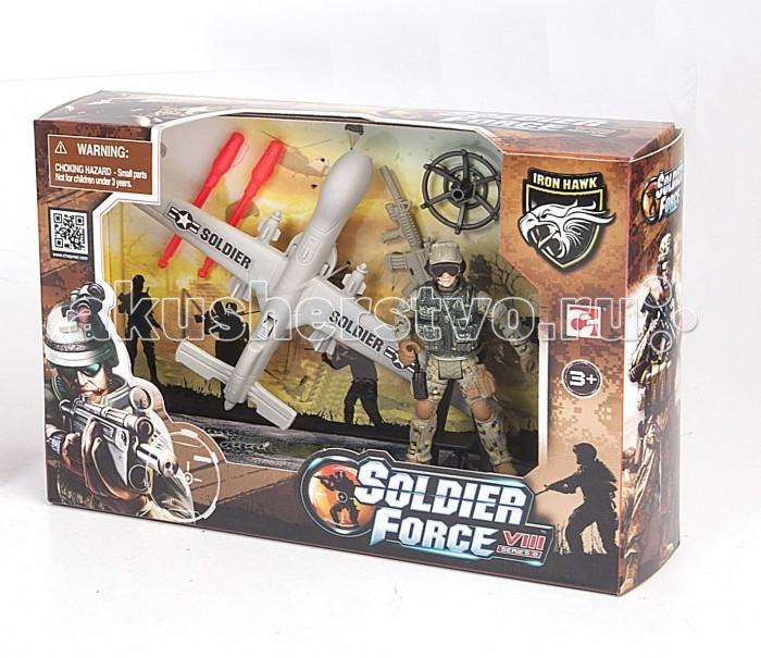 Chap Mei Игровой набор Solder Force VIII - Разведчик с беспилотникомИгровой набор Solder Force VIII - Разведчик с беспилотникомИгровой набор Solder Force VIII Разведчик с беспилотником от производителя Chap Mei - это игрушка, которой обрадуется любой мальчик, мечтающий о приключениях. Ведь с таким набором можно обыграть практически любой современный сюжет, связанный с военными действиями. Для максимального удовольствия от игрового процесса в данном комплекте предусмотрено множество аксессуаров.  Комплектация набора:   Беспилотник; Фигурка солдата; Аксессуары.<br>