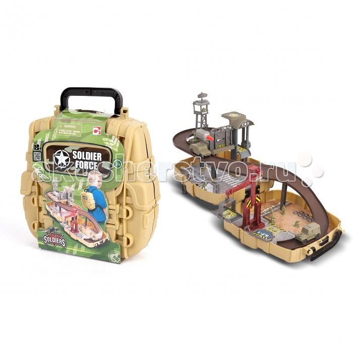 Chap Mei Игровой набор Нано-армия - Мини-трек в рюкзакеИгровой набор Нано-армия - Мини-трек в рюкзакеИгровой набор Нано-армия состоит из деталей для сборки трека, и военной базы, нескольких платформ, машинок и отряда солдатиков. Все это в разобранном виде компактно помещается в специальный рюкзак, который служит основой для построения базы. Прежде чем начать игру, ребенку предстоит построить базу с подвижными платформами, караульными вышками, складом боеприпасов и многим другим. Игра с таким набором покажется интересной и увлекательной, она никого не оставит равнодушным ведь в ней предусмотрено наличие световых и звуковых эффектов.  Комплектация набора:   Рюкзак; Трек; Машинки; Солдатики; Аксессуары.<br>