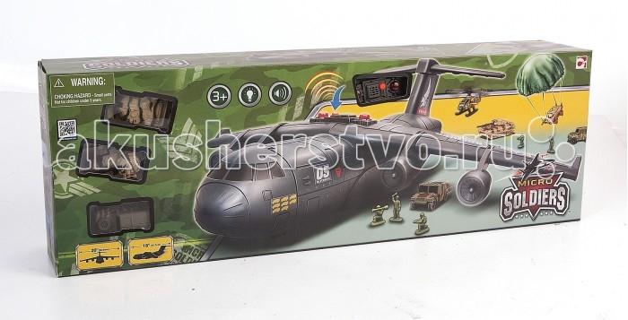 Chap Mei Игровой набор Нано-Армия - Транспортный самолет с наполнениемИгровой набор Нано-Армия - Транспортный самолет с наполнениемИгровой набор Нано-Армия - это грузовой военный самолет, созданный для того, чтобы перевозить военную технику. На его борту помещается несколько единиц техники и солдаты. В наборе вместе с самолетом представлены 2 броневика, 2 танка, 2 вертолета, а также парашют для десантирования техники и боевой отряд десантников.  Детали игрушек тщательно проработаны, однако для еще большей реалистичности самолет оснащен световыми и звуковыми эффектами, которые управляются с помощью кнопок на корпусе.  Комплектация набора:   Грузовой десантный самолет; Большой парашют для техники; 2 броневика; 2 танка; 2 вертолета; Фигурки десантников.  Основные характеристики:  Размер упаковки: 64 х 11.5 х 21.5 см<br>