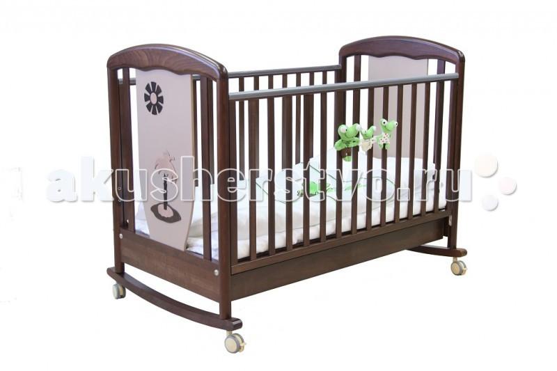 Детская кроватка Papaloni Vitalia качалка 125х65