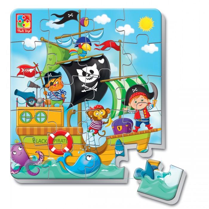 Vladi toys Пазлы мягкие магнитные в стакане Пираты (20 элементов)