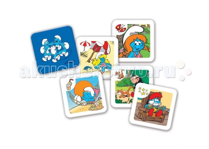 Trefl Игра Мемо - СмурфыИгра Мемо - СмурфыTrefl Игра Мемо - Смурфы  Игра Мемо – Смурфы позволит тренировать память, внимательность и концентрацию в ходе увлекательного процесса. На 60 карточках вы найдете 30 парных изображений героев популярного мультфильма Смурфики Это игра для неограниченного количества участников: вы можете открывать Memo в одиночку или с друзьями В ходе игры карточки раскладываются лицевой стороной вниз. Затем игрок открывает две из них и снова кладет лицом вниз. Цель игры: открывая по две карточки, собрать парные изображения. Кто наберет больше – тот и победил В коробке: 60 парных карточек с изображением героев Смурфиков<br>