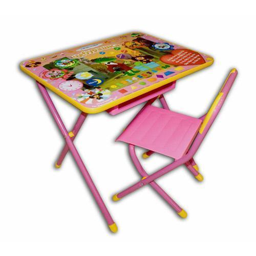 Дэми Набор мебели №3 ЧебурашкаНабор мебели №3 ЧебурашкаНабор мебели Дэми №3  для детей от 3 до 8 лет (рост 1.3-1.45 м). Подойдет для кормления, игр и обучения ребенка. Поверхность столешницы ламинированная, что позволяет стол легко чистить. Яркий рисунок поможет малышу изучить буквы и цифры. Набор мебели Дэми №3 Веселые гномы легко складывается и не занимает много места. Набор разработан и изготовлен в соответствии с обязательными нормами и требованиями к детским товарам.  Размеры: стол - 45х60х52 см стул - 30 см (h сиденья), 55 см (h верхнего края спинки)<br>