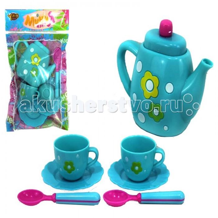 Yako Набор посуды М6009Набор посуды М6009Набор посуды М6009 позволит маленькой хозяйке устроить чаепитие для любимых игрушек. В наборе: чайник с крышкой, 2 чашки, 2 блюдца, 2 ложки.<br>