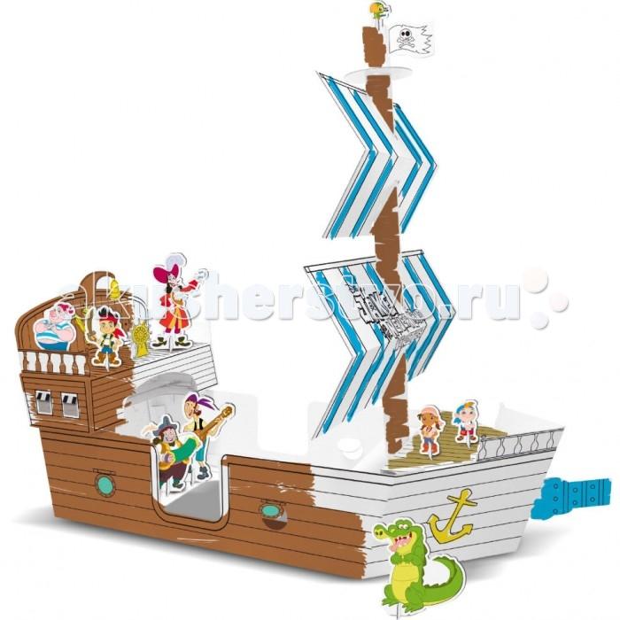 Конструктор IMC toys Построй корабль Джейк и пираты Нетландии с карандашамиПострой корабль Джейк и пираты Нетландии с карандашамиКонструктор IMC toys Конструктор Построй корабль Джейк и пираты Нетландии Disney - макет корабля, который ребенок может собрать сам и разукрасить по своему вкусу.   Выполнен из картона, благодаря чему обеспечивается надежное крепление деталей. Данная модель способствует развитию пространственного мышления, воображения и зрительно-моторной координации.   В комплекте идут карандаши.<br>