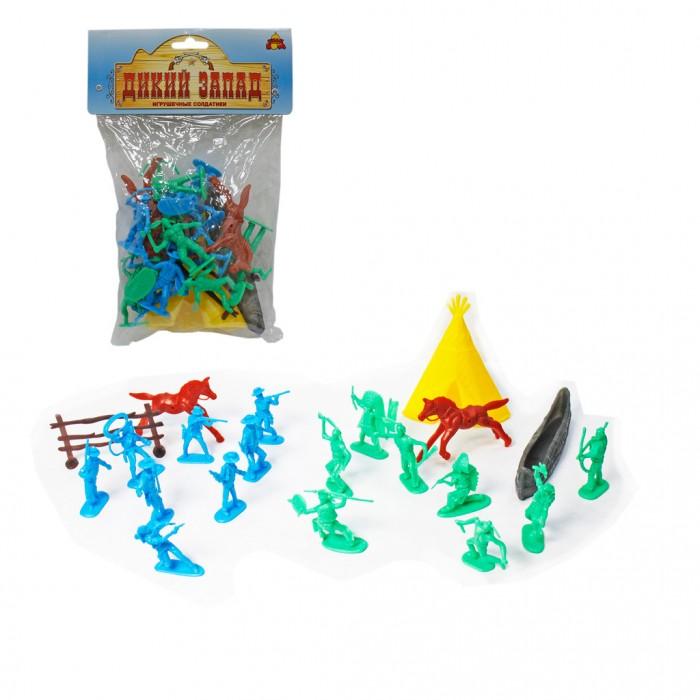 Тилибом Дикий запад набор игрушечных солдатиков 21 шт.