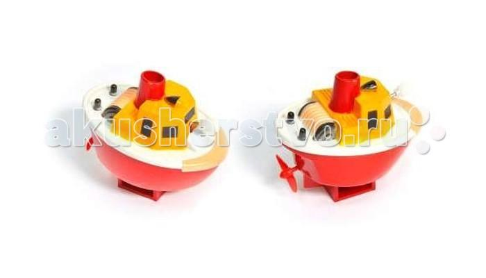 Тилибом Заводная игрушка для ванной Кораблик 7 см