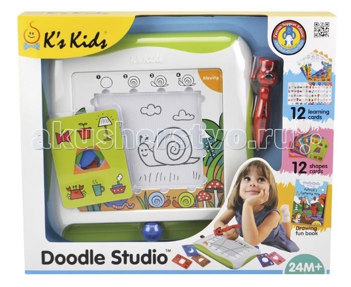 KS Kids с обучающими карточкамис обучающими карточкамиДоска для рисования с обучающими карточками 30см*30см. В наборе трафареты,обучающие карточки, книжка -пошаговое руководство Учимся рисовать.  В комплекте:  магнитная доска; 12 двухсторонних карточек-трафаретов, с помощью которых можно нарисовать 144 предмета; 12 двухсторонних карточек с 24 логическими задачками; книжка с пошаговым руководством «Учимся рисовать»; удобная ручка в виде щенка Патрика. Материал: безвредный пластик, бумага, картон. Размер: 30 &#215; 30 см.<br>