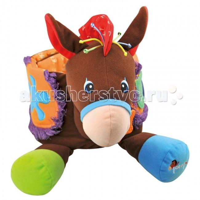 Развивающая игрушка KS Kids КовбойКовбойРазвивающая игрушка KS Kids Ковбой со звуком, погремушкой, грызунок, разнофактурные материалы.   Механизм со звуком вынимается. Возраст: 12 м+<br>