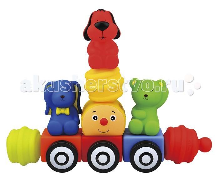 Развивающая игрушка K'S Kids Мягкий конструктор Поезд друзей