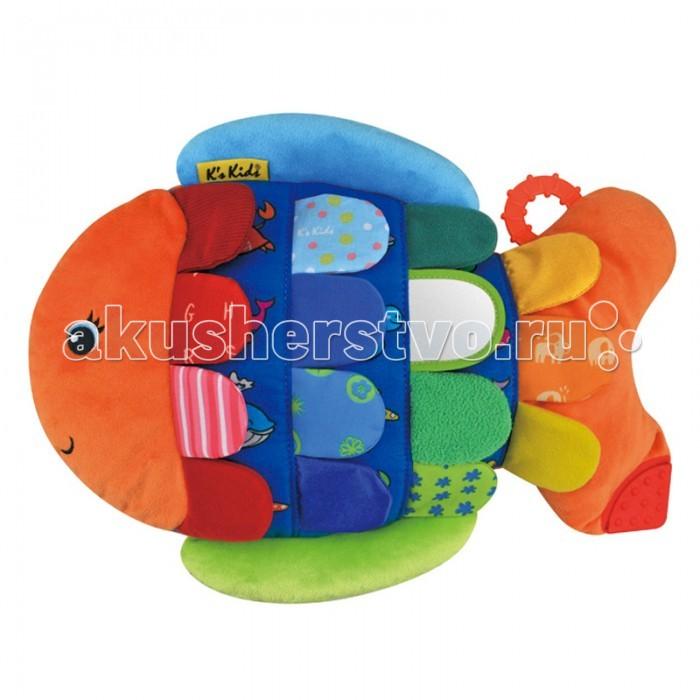Развивающая игрушка KS Kids Рыбка-ФлипперРыбка-ФлипперРазвивающая игрушка KS Kids Рыбка- Флиппер 37см*28,5см*4 см  С зеркальцем, ткань разной фактуры, грызунок;  под «чешуйками» изображения морских животных - игра на развитие памяти.   Можно использовать как подушку.   Размер упаковки: 38.5x28x7.5 см Возраст: 9 м+<br>