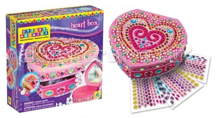 ORB Factory Мозайка-шкатулка Сердечко 05065Мозайка-шкатулка Сердечко 05065Мозайка-шкатулка Сердечко - не просто игрушка, но и полезная вещь для каждой девочки, которую нужно собрать и украсить самостоятельно.  Набор включает в себя яркую, красивую шкатулку в форме сердца. Собрав шкатулку, нужно ее украсить различными самоклеящимися стикерами. На рисунке шкатулки нанесены специальные номера, каждый номер соответствует определенному цвету.  Шкатулку также можно украшать на свой вкус, придумывая самые удивительные сочетания цветов. Наклеив правильно все разноцветные стикеры по цветам, у вашей девочки получится красивый рисунок и полностью готовая к использованию оригинальная шкатулка, в котором можно хранить что-то очень ценное.<br>