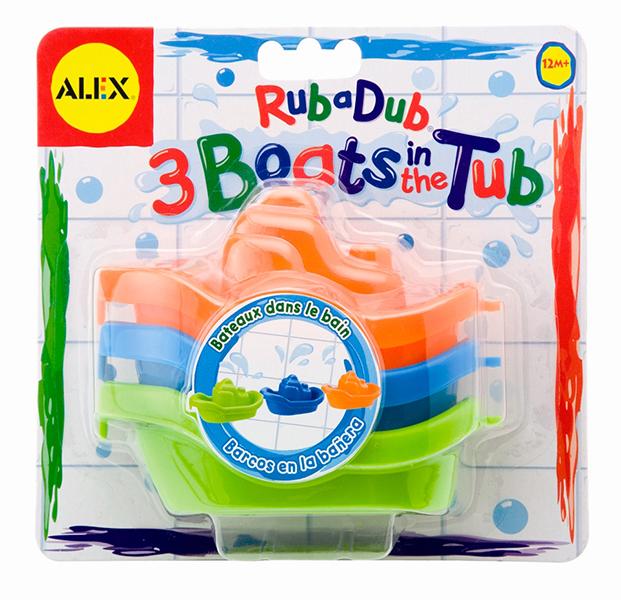 Alex Игрушки для ванной Цветные лодочки