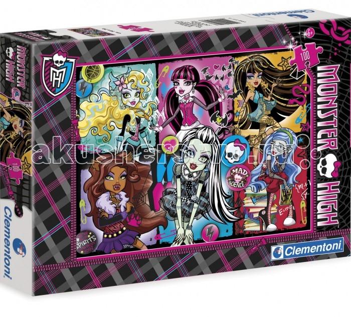 Clementoni Пазл Спецколлекция Monster High - Безумно привлекательные (100 элементов)Пазл Спецколлекция Monster High - Безумно привлекательные (100 элементов)Пазл - великолепная игра для семейного досуга. Сегодня собирание пазлов стало особенно популярным, главным образом, благодаря своей многообразной тематике, способной удовлетворить самый взыскательный вкус. А для детей это не только интересно, но и полезно. Собирание пазла развивает мелкую моторику у ребенка, тренирует наблюдательность, логическое мышление, знакомит с окружающим миром, с цветом и разнообразными формами.<br>