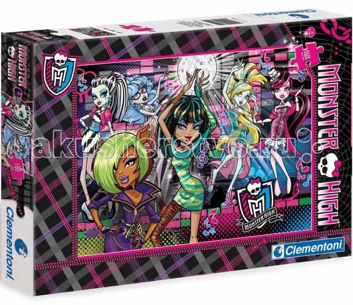 Clementoni Пазл Спецколлекция Monster High - Незабываемая вечеринка (180 элементов)Пазл Спецколлекция Monster High - Незабываемая вечеринка (180 элементов)Пазл - великолепная игра для семейного досуга. Сегодня собирание пазлов стало особенно популярным, главным образом, благодаря своей многообразной тематике, способной удовлетворить самый взыскательный вкус. А для детей это не только интересно, но и полезно. Собирание пазла развивает мелкую моторику у ребенка, тренирует наблюдательность, логическое мышление, знакомит с окружающим миром, с цветом и разнообразными формами.<br>