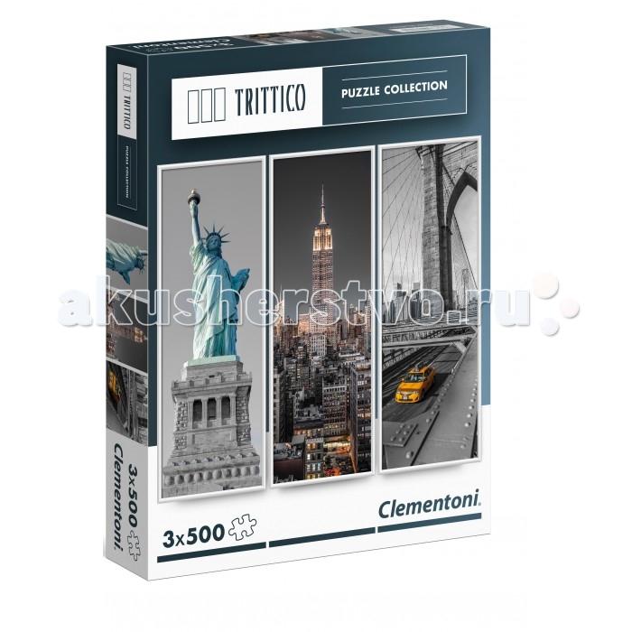 Clementoni Пазл Trittico - Достопримечательности Нью-Йорка (3х500 элементов)Пазл Trittico - Достопримечательности Нью-Йорка (3х500 элементов)Trittico – новейшая коллекция Clementoni, состоящая из трёх пазлов, 500 элементов, объединённых общей темой. Пазл - великолепная игра для семейного досуга. Сегодня собирание пазлов стало особенно популярным, главным образом, благодаря своей многообразной тематике, способной удовлетворить самый взыскательный вкус. А для детей это не только интересно, но и полезно. Собирание пазла развивает мелкую моторику у ребенка, тренирует наблюдательность, логическое мышление, знакомит с окружающим миром, с цветом и разнообразными формами.<br>