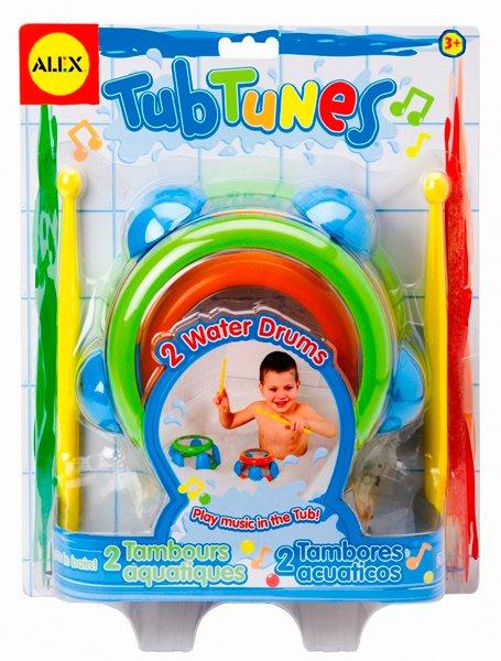 Игрушки для купания Alex Игрушка для ванной Плавающие барабаны с нотами
