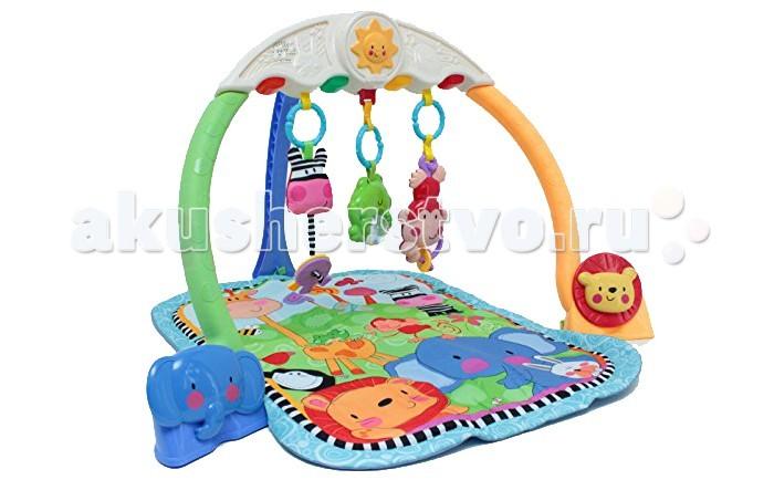 Развивающий коврик Tinbo Toys музыкальный Мои зверятамузыкальный Мои зверятаРазвивающий коврик Tinbo Toys музыкальный Мои зверята мягкий развивающий коврик, рассчитанный на деток от самого рождения. Это очень красивая и функциональная игровая площадка для малыша, оснащенная трехсторонней дугой с игрушками-погремушками, как мягкими, так и пластиковыми. Также в этой модели имеется музыкальный блок.  Характеристики: развивающий коврик Мои забавные друзья 3-х сторонняя дуга с игрушками-погремушками музыкальный блок пластиковые и мягкие игрушки компактно складывается.<br>