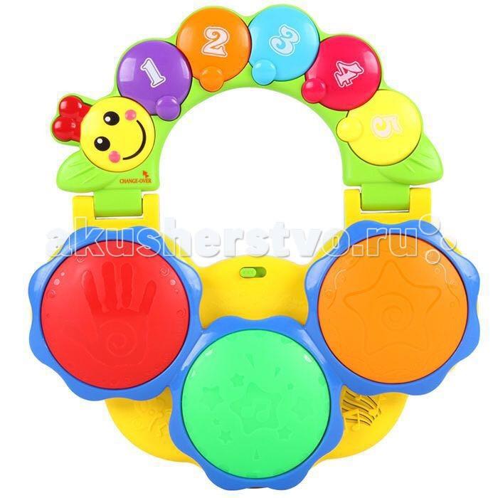 Музыкальная игрушка Tinbo Toys Гусеница-барабанГусеница-барабанМузыкальная игрушка Tinbo Toys Гусеница-барабан выполненная в виде детской барабанной установки с веселой гусеницей. Она оснащена 3 музыкальными клавишами, световыми кнопками и веселыми аудио эффектами.  Характеристики: развивающая игрушка Барабан развивает мелкую моторику рук, музыкальный слух, визуальное восприятие 3 музыкальных клавиш с различными музыкальными эффектами музыкальные и световые кнопки.<br>