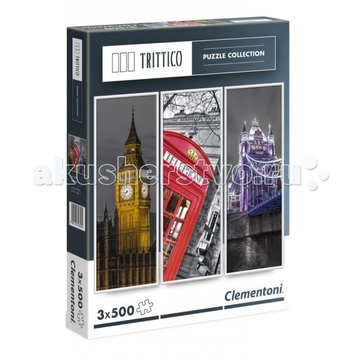Clementoni Пазл Trittico - Достопримечательности Лондона (3х500 элементов)Пазл Trittico - Достопримечательности Лондона (3х500 элементов)Trittico – новейшая коллекция Clementoni, состоящая из трёх пазлов 500 элементов, объединённых общей темой. Пазл - великолепная игра для семейного досуга. Сегодня собирание пазлов стало особенно популярным, главным образом, благодаря своей многообразной тематике, способной удовлетворить самый взыскательный вкус. А для детей это не только интересно, но и полезно. Собирание пазла развивает мелкую моторику у ребенка, тренирует наблюдательность, логическое мышление, знакомит с окружающим миром, с цветом и разнообразными формами.<br>