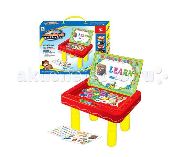 Tinbo Toys Моя первая партаМоя первая партаTinbo Toys Моя первая парта представляющая собой многофункциональный столик-парту для обучения и игры деток в возрасте от 3 лет. Парта имеет двухстороннюю обучающую доску, которая при необходимости вешается на стену. Она может складываться до компактных размеров, поэтому удобна в хранении.  Характеристики: развивающая, обучающая игрушка Моя первая парта многофункциональный столик двухсторонняя обучающая доска доску можно также повесить на стену способствует интеллектуальному развитию развивает мелкую моторику рук, музыкальный слух, визуальное восприятие, логику, мышление столик компактно складывается и удобен для хранения  В комплекте: буковки, картинки животных с магнитной поверхностью, мелки, губка для доски, карандаш.<br>