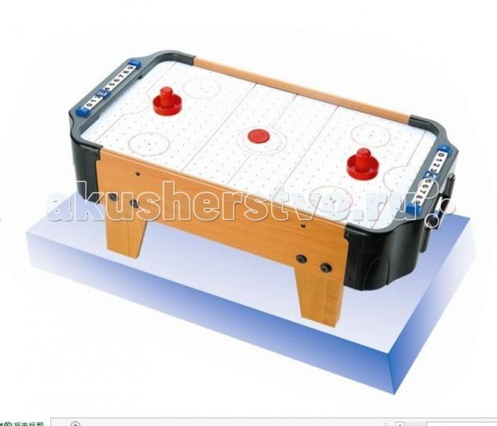 S+S Toys Игра Аэрохоккей 57х31х11 смИгра Аэрохоккей 57х31х11 смS+S Toys Игра Аэрохоккей 57х31х11 см СС76721  Игра в аэрохоккей в любом месте любой комнаты – это просто! Настольный Аэрохоккей удобно устанавливать, удобно играть! С ним Вы легко можете устраивать турниры или хоккейные соревнования, разнообразить праздник или просто отвлечься от рабочей суеты!  Аэрохоккей - увлекательная и активная игра, участие в которой принимают два игрока. Цель игры - забить шайбу в ворота противника.  Игровой комплект состоит из игрового поля, двух ворот со счетчиком очков, двух шайб и двух бит.  Игровое поле представляет собой гладкую игровую поверхность, окруженную деревянным бортиком, предотвращающим падение шайбы и бит. Через небольшие дырочки на игровой поверхности создается циркуляция воздуха, уменьшая трение и увеличивая тем самым скорость игры. Устройство, поддерживающее циркуляцию воздуха, работает от сети. Бита для аэрохоккея представляет собой ручку, прикрепленную к плоской поверхности. Шайбы для аэрохоккея - плоские диски, выполненные из пластика.<br>