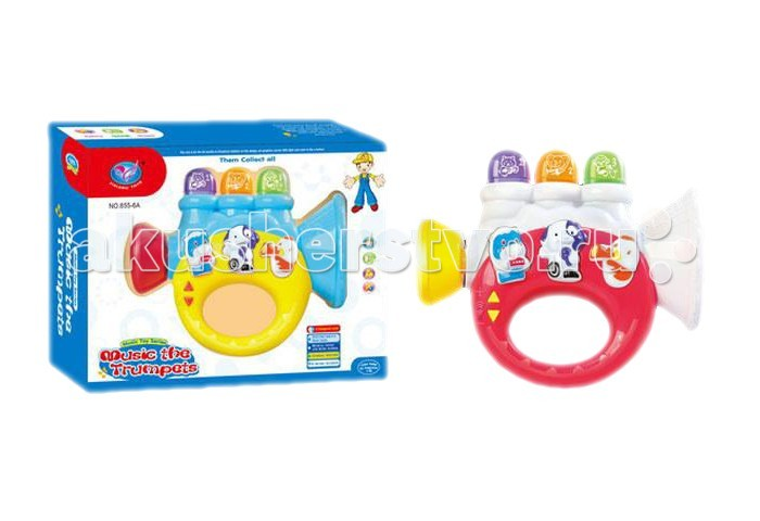 Музыкальная игрушка Tinbo Toys Труба TB01005599Труба TB01005599Музыкальная игрушка Tinbo Toys Труба TB01005599 выполненная в виде веселой музыкальной трубы. Она оснащена удобной ручкой, а также клавишами с различными звуковыми эффектами.  Развивает мелкую моторику рук, музыкальный слух.<br>
