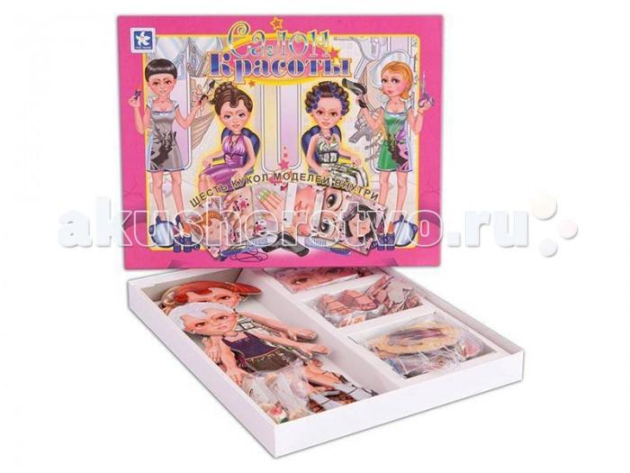 Новое поколение Салон красоты - настольная играСалон красоты - настольная играНовое поколение Салон красоты - настольная игра для девочек.   В комплект игры входят шесть кукол,изготовленных из плотного картона.  У кукол различные стили одежды: романтический, кэжуал (повседневная одежда), деловой, гламур, сафари, диско.  Цель игры - подобрать прическу, макияж, маникюр, педикюр своей кукле.   В комплект игры входит: Игровое поле – 1 шт. Правила игры Куклы – 6 шт. Карточки – 75 шт. Заменяемые детали – 75 шт. Фишки – 6 шт. Кубик<br>