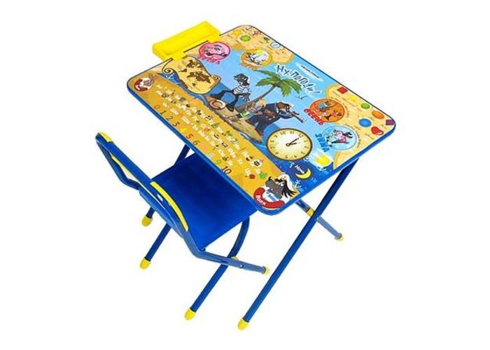 Дэми Набор мебели №3 Ну погодиНабор мебели №3 Ну погодиНабор мебели Дэми №3  для детей от 3 до 8 лет (рост 1.3-1.45 м). Подойдет для кормления, игр и обучения ребенка. Поверхность столешницы ламинированная, что позволяет стол легко чистить. Яркий рисунок поможет малышу изучить буквы и цифры. Набор мебели Дэми №3 Веселые гномы легко складывается и не занимает много места. Набор разработан и изготовлен в соответствии с обязательными нормами и требованиями к детским товарам.  Размеры: стол - 45х60х52 см стул - 30 см (h сиденья), 55 см (h верхнего края спинки)<br>