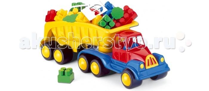 Hemar Самосвал с конструктором Maxi №3М 22 деталиСамосвал с конструктором Maxi №3М 22 деталиСамосвал оснащен вместительным кузовом, в котором можно перевозить идущий в комплекте конструктор или любимые игрушки.  Яркий и вместительный, он обязательно привлечет внимание ребенка.  С этой машиной можно играть как дома, так и на улице, развивая координацию движений, внимательность, усидчивость и мелкую моторику рук.   Изготовлен из экологически чистой и нетоксичной цветной пластмассы.<br>