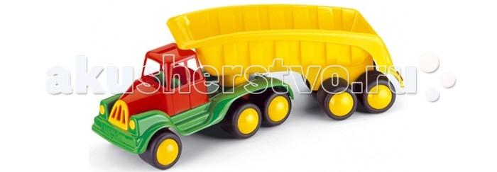 Hemar Самосвал MaxiСамосвал MaxiСамосвал Maxi с вместительным кузовом, в котором можно перевозить любимые игрушки.  Яркий и вместительный, он обязательно привлечет внимание ребенка.  С этой машиной можно играть как дома, так и на улице, развивая координацию движений, внимательность, усидчивость и мелкую моторику рук.   Изготовлен из экологически чистой и нетоксичной цветной пластмассы.<br>