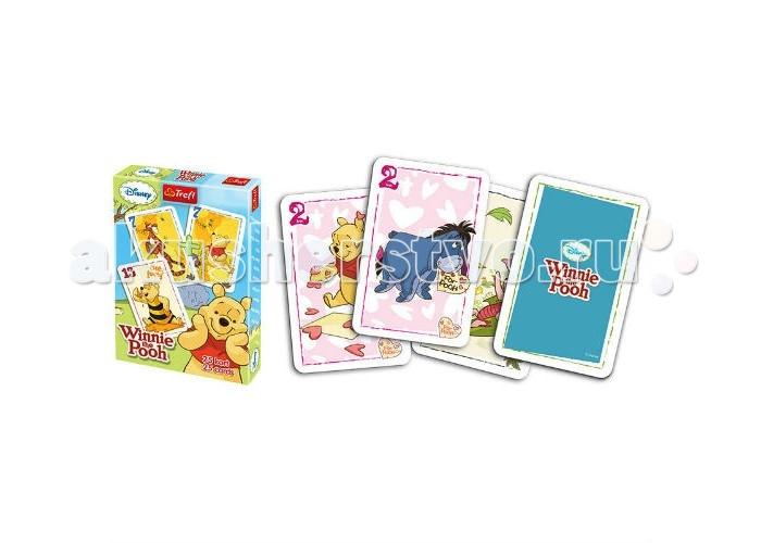 Trefl Карточная игра Акулина для детей 25 карт - Винни ПухКарточная игра Акулина для детей 25 карт - Винни ПухTrefl Карточная игра Акулина для детей 25 карт - Винни Пух  Карточная игра Акулина известна, прежде всего, как развлечение, которое тренирует внимательность и логическое мышление. Но дети любят ее динамичность и увлекательность Правила игры просты: у вас есть колода из 25 карт. Все карты кроме одной (Акулины) – парные. Карты раздаются игрокам на руки. Задача – избавиться от всех карт, меняясь с соседями и сбрасывая парные карты. Будьте внимательны и вовремя сдайте Акулину своему противнику Игра рассчитана на 2-5 игроков в возрасте 5 лет В комплекте вы найдете 25 карт с изображением героев популярного диснеевского мультфильма – Винни-Пуха и его друзей.<br>