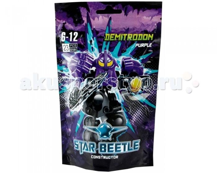 Конструктор Kribly Boo Star Beetle Звездный Воин Демитродон 23 деталиStar Beetle Звездный Воин Демитродон 23 деталиКонструктор Демитродон из серии Star Beetle станет верным другом ребенка и надолго привлечет его внимание. Комплект состоит из 23 деталей, изготовленных из пластмассы. Детали представлены в яркой, фиолетово-черной расцветке.   В наборе можно найти подробную инструкцию, которая поэтапно описывает процесс сборки. Собранная игрушка представляет собой галактического воина с оружием в руках.  Этот комплект может быть использован сразу в двух целях: собирая конструктор, ребенок развивает пространственное мышление, логику и воображение,а готовая фигурка Демитродона отлично подойдет для сюжетно-ролевых игр. Стильный и современный дизайн делают воина еще более интересным для ребенка.<br>
