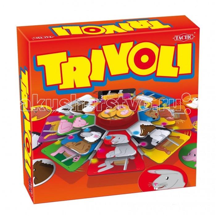 Tactic Games Настольная игра Карусель 01960TНастольная игра Карусель 01960TTactic Games Карусель 01960T - увлекательная игра для всей семьи. Одновременно в ней могут принимать участие от 2 до 6 человек.   Игровое поле представляет собой трехъярусную карусель. Каждому игроку предстоит собрать собственную секретную комбинацию, используя три яруса карусели. Первый из игроков, кому это удастся, получает фишку Триволи. Побеждает игрок, который первым соберёт 3 фишки Триволи.  Настольная игра Tactic Games Карусель 01960T включает в себя 5 ярусов карусели, центральный элемент, 2 диска с 8 картинками, 13 фишек Триволи, 1 игровой кубик, а также подробную инструкцию с правилами игры.<br>