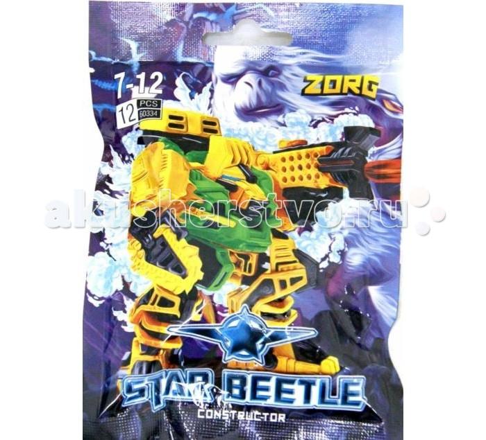 Конструктор Kribly Boo Star Beetle Звездный Воин Зорг 12 деталейStar Beetle Звездный Воин Зорг 12 деталейКонструктор Star Beetle состоит из 12 пластиковых деталей, которые собираются в мощного космического робота-воина.   В качестве рук у робота его боевые бластеры, которые могут двигаться.   Такой конструктор заинтересует любого мальчишку, который любит разыгрывать  различные космические баталии со своими игрушками.<br>