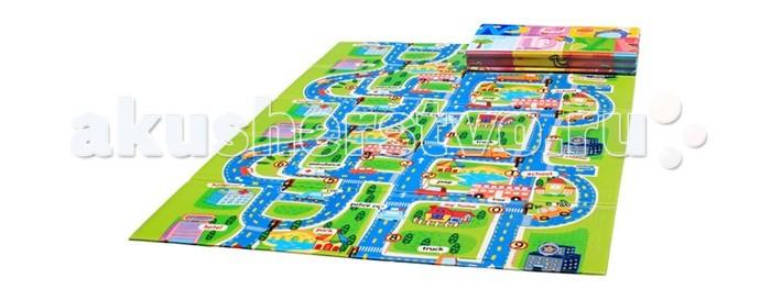 Игровой коврик Mambobaby Город книжка 200х150х1 см