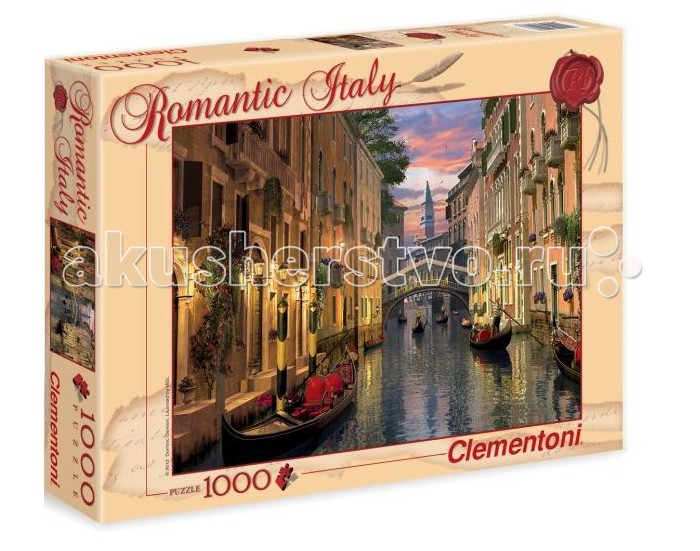 Clementoni Пазл Романтическая Италия - Доминик Дэвисон Венеция (1000 элементов)