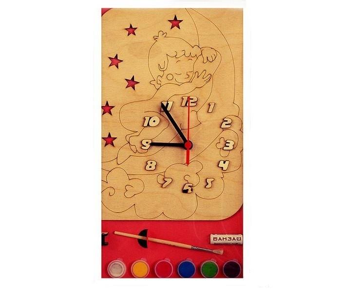 Бэмби Часы c циферблатом под роспись Медвежонок на луне ДНИ 112