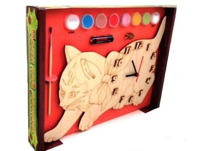 Бэмби Часы c циферблатом под роспись Кошка ДНИ 116