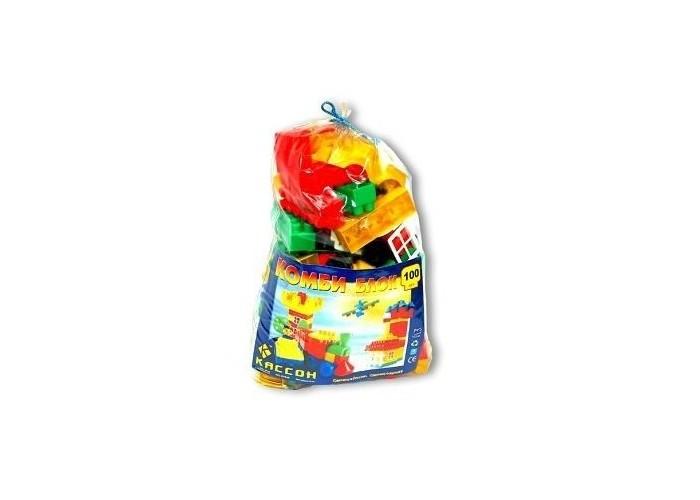 Конструктор Кассон Комби блок 100 деталейКомби блок 100 деталейКонструктор Комби блок - это возможность раскрыть творческий потенциал, скрытый в ребенке.   Благодаря набору из 100 деталей можно построить различные сооружения в ярких тонах. Сооружения могут использоваться как отдельные игрушки или как дополнения к имеющимся.  Состоит из разноцветных деталей разной длины. В набор входят следующие дополнительные элементы: платформы с колесами; оконные и дверные рамы и крыши для строительства домов; съемные корпусы машин; фигурки деревьев; модули забора с основаниями.   Игра способствует развитию мелкой моторики и координации движений обеих рук, образного и пространственного мышления, воображения. Рядом с родителями игра будет интересней, ведь ребенка нужно поощрять, чтобы удовлетворить его потребности в заботе и любви.<br>