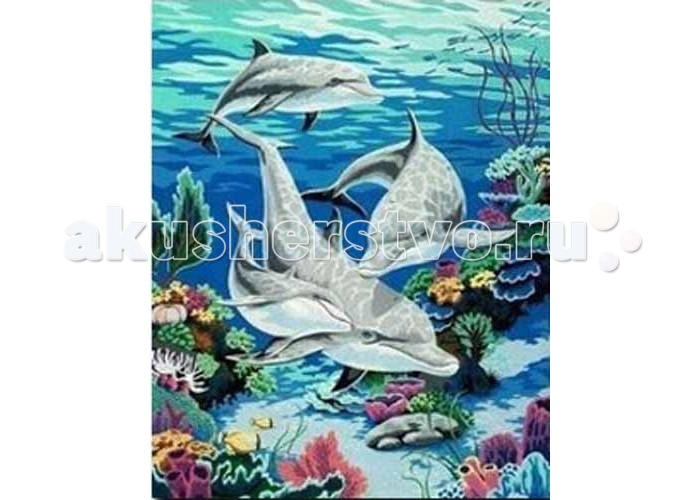 Molly Картина по номерам Дельфины в океанеКартина по номерам Дельфины в океанеMolly Картина по номерам Дельфины в океане G046  Картина по номерам - это интеллектуальное рисование. Просто взяв в руки краски и следуя нумерации на фрагментах картинки, Вы создаете оригинальный рисунок. Раскраска по номерам учит штриховать рисунки в заданных областях и раскрашивать их, не заходя за контур, концентрироваться на отдельных предметах, планировать свою деятельность.  Комплектация: - холст, сделанный из чистого хлопка на подрамнике; - набор акриловых красок, индивидуально разлитый для каждой картины; - набор кистей; - крепеж для подвешивания картины; - акриловый лак.  Размер: 40х50 см.<br>