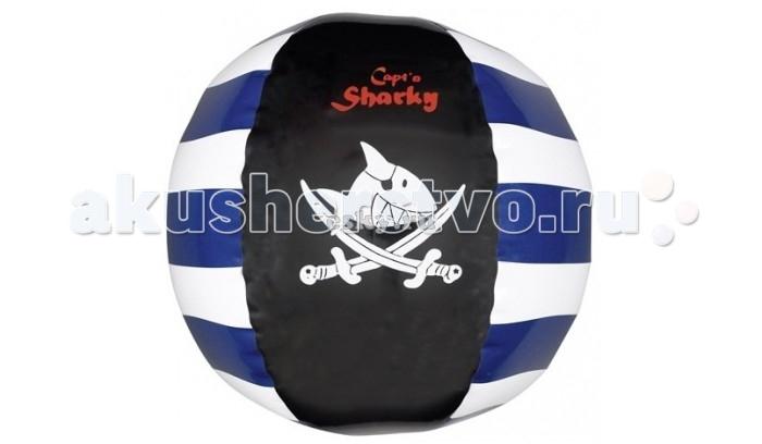Spiegelburg Мяч надувной Captn Sharky 20664Мяч надувной Captn Sharky 20664Spiegelburg Мяч надувной Captn Sharky 20664 легкий, оформлен в пиратском стиле.   Подойдет для активных игр дома, на воде и на природе. Мяч - универсальная игрушка для детей разного возраста. Игра с ним способствует гармоничному физическому развитию ребенка и улучшает координацию движений.<br>