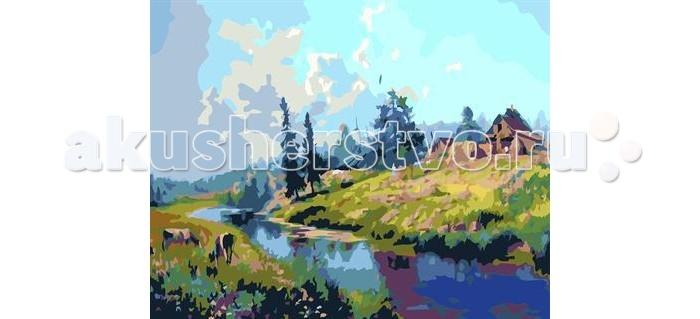 Molly Картина по номерам Дом на берегу реки