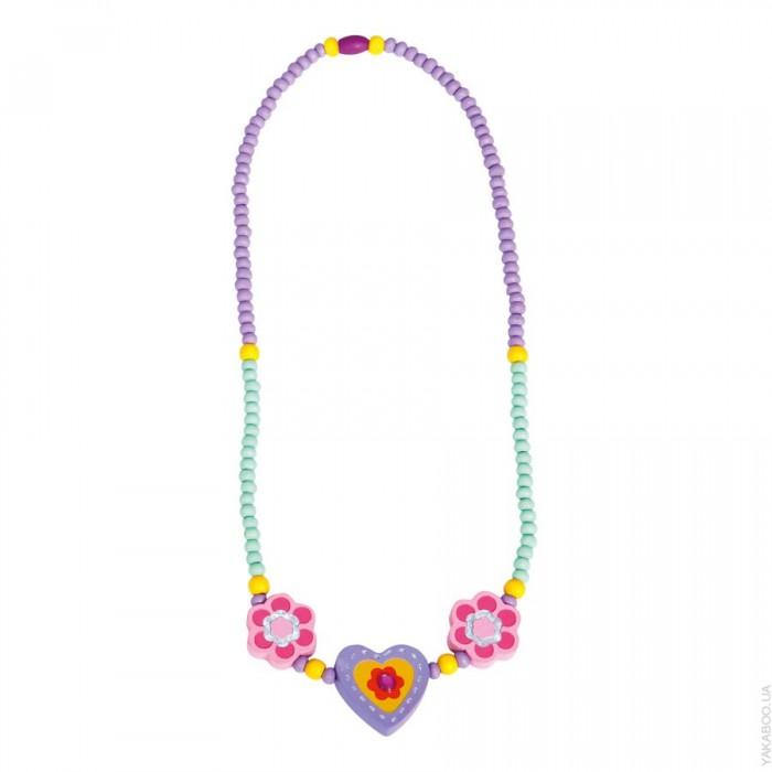 Bino Бусы Фиолетовое сердце 9989033