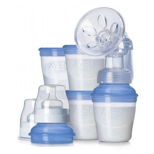 Philips-Avent Молокоотсос ручной + набор контейнеров ISIS VIA (PP)