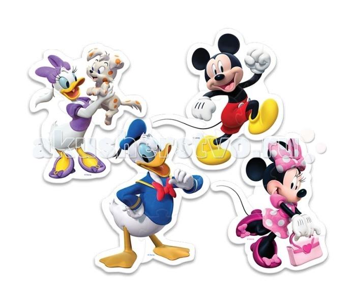 Trefl Набор из 4 пазлов для малышей Микки Маус 14 элементов