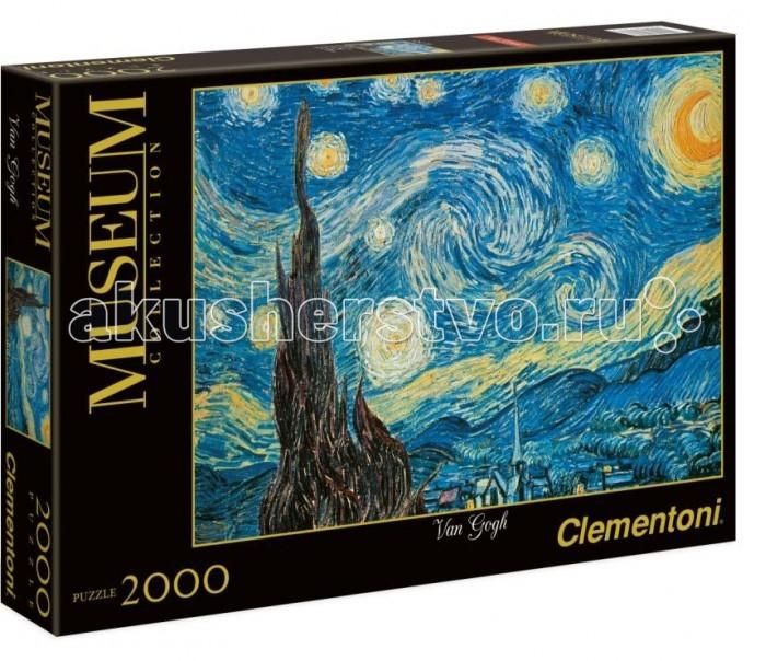 Clementoni Пазл Музей - Винсент Ван Гог Звёздная ночь - город азарта (2000 элементов)Пазл Музей - Винсент Ван Гог Звёздная ночь - город азарта (2000 элементов)Пазл - великолепная игра для семейного досуга. Сегодня собирание пазлов стало особенно популярным, главным образом, благодаря своей многообразной тематике, способной удовлетворить самый взыскательный вкус. А для детей это не только интересно, но и полезно. Собирание пазла развивает мелкую моторику у ребенка, тренирует наблюдательность, логическое мышление, знакомит с окружающим миром, с цветом и разнообразными формами.<br>
