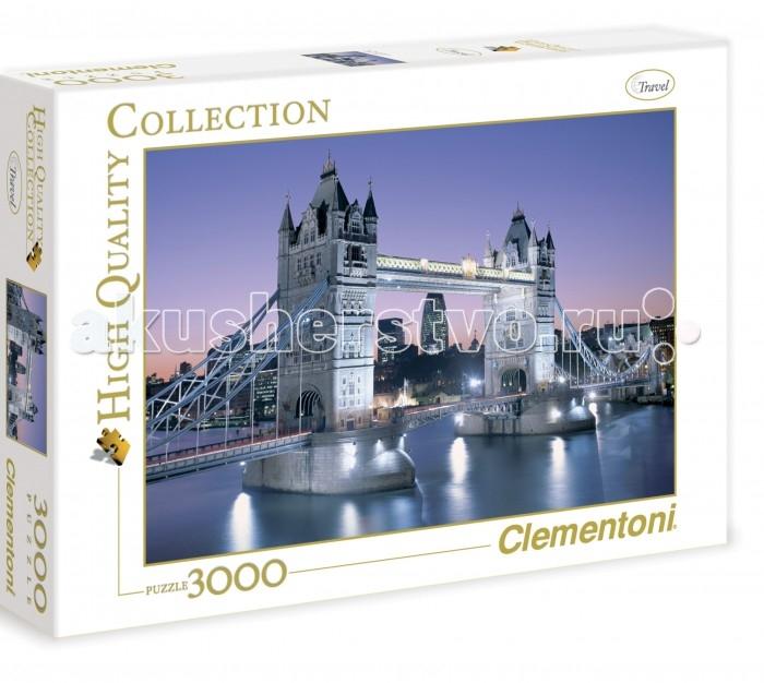 Clementoni Пазл High Quality Collection - Лондон, Тауэрский мост (3000 элементов)Пазл High Quality Collection - Лондон, Тауэрский мост (3000 элементов)Вечерний вид на самый знаменитый мост в Англии изображён на пазле 3000 элементов. Тауэрский мост, построенный во второй половине XIX века, ввиду необходимости, стал известнейшим символом Великобритании. Составление картинки из элементов пазла стимулирует умственную деятельность, способствует развитию наглядно-образного, аналитического и логического видов мышления. Оказывает благотворное влияние на развитие зрительной памяти, внимания и воображения. Пазл напечатан и изготовлен в Италии из высококачественных материалов.   Основные характеристики:   Размер упаковки: 41,8 х 27,8 х 6 см Размер готовой картинки: 114,3 х 82,6 см Количество элементов: 3000 шт.<br>