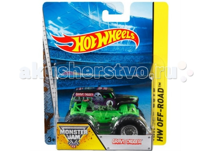 Hot Wheels Monster Jam ������� Grave Digger, ������� 1:64